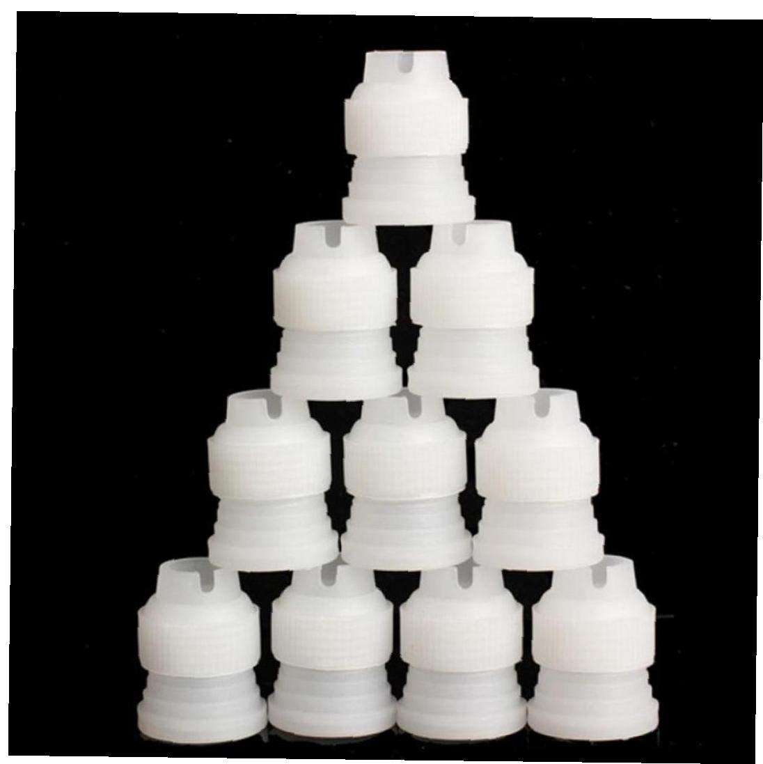 10PCS Small Size Coupler Adaptor Cake Flower Pastry Decoration Tool Icing Piping Nozzle Bag