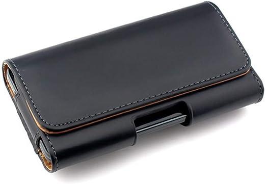 Negro Funda Horizontal Movil Cinturon para iPhone Xs Max Xr 8 Plus ...