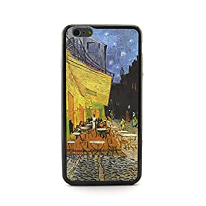 """Generic Euclid+ - The Cafe Terrace on the Place,Arles,at Night Vincent van Gogh Painting Embossed Design Plastic+PC Case Cover for Apple iPhone 6 4.7"""" inch"""