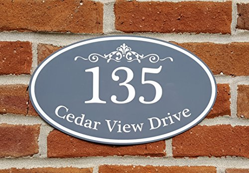 House Plaque Personalized (Customized Home Address Sign, Aluminum 12