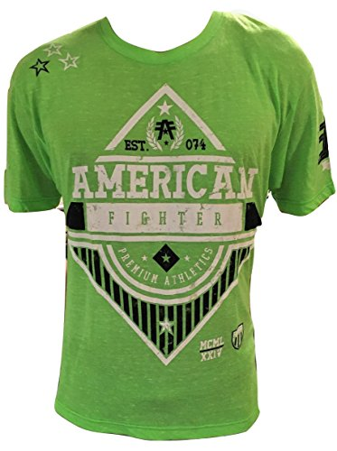 Cage Chuck Fighter (American Fighter Mens Tee Shirt (large, green))