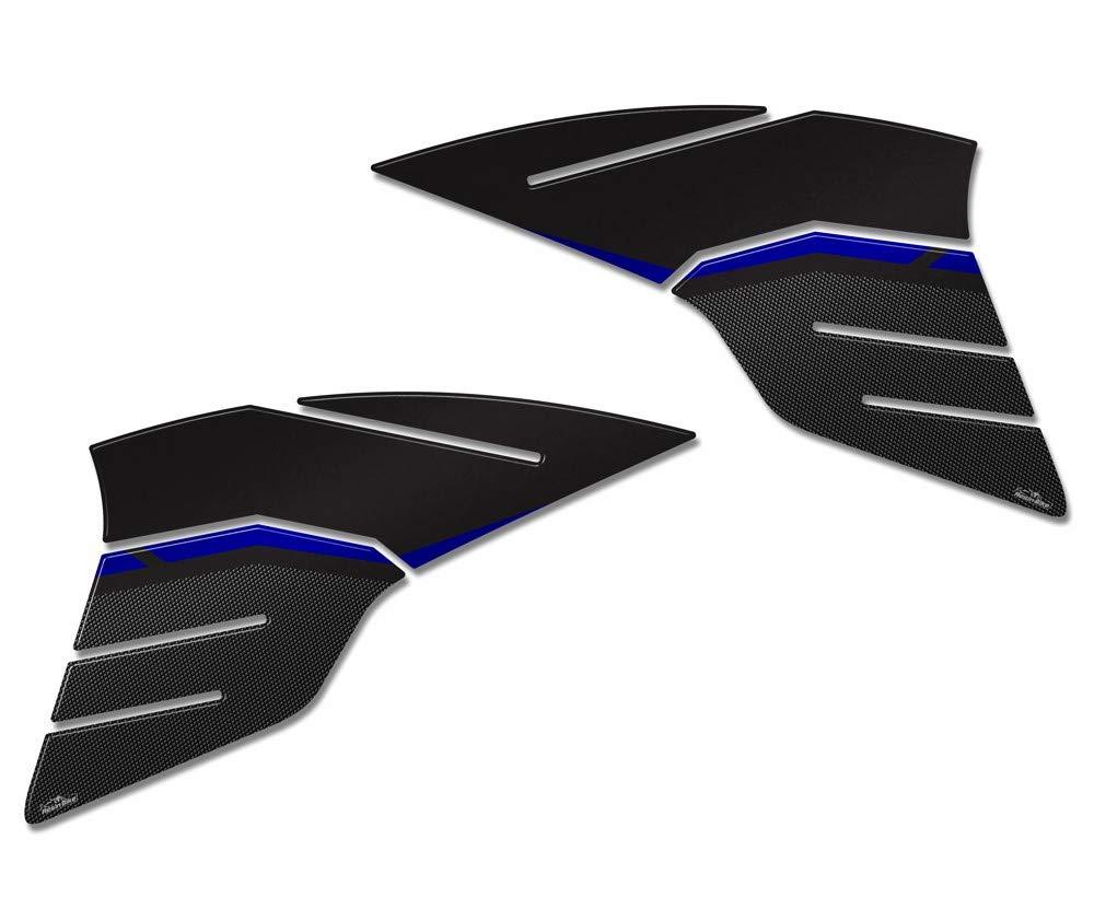 Protections Réservoir Latéral Adhésifs 3d Moto Yamaha Tracer 900 2018-2019 - Métal Blue