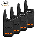 Greaval Long Range Walkie Talkie 16-Channel 2 Way Radio with Large LED Flash (Pack of 4)
