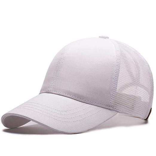 Gorra de etiquetado Gorra de béisbol Blanca sin estándar: Amazon ...