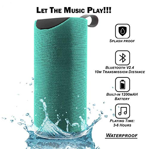 Praxan TG113 Portable & Waterproof Wireless Bluetooth Speaker with Best Sound Quality Playing with Mobile | Tablet | Laptop | AUX | Memory Card | Pen Drive | FM & Much More (Random Color)