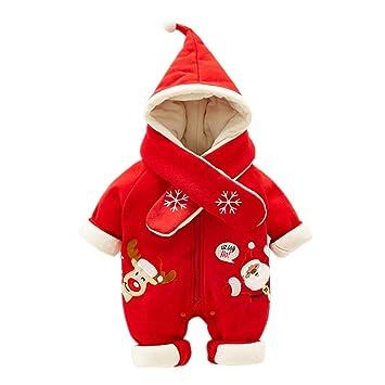 Morbuy Disfraces de Navidad Bebes, Bufanda de Copo de Nieve Mono para bebé Niña Niños