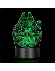 3D Star Wars-lamp, ZNZ LED Illusion-nachtlampje, 16 kleuren veranderend 3-model met afstandsbediening en slimme aanraking, perfecte kerst- en verjaardagscadeaus voor kinderen, heren, dames en Star Wars-fans