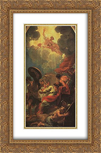 Benjamin West 2x Matted 16x24 Gold Ornate Framed Art Print 'Central panel of a triptych (study for a window at St. Paul's Church, - Galleria Birmingham