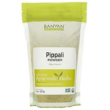 Banyan Botanicals Organic Pippali Powder - Certified USDA Organic, 1/2 lb - Piper