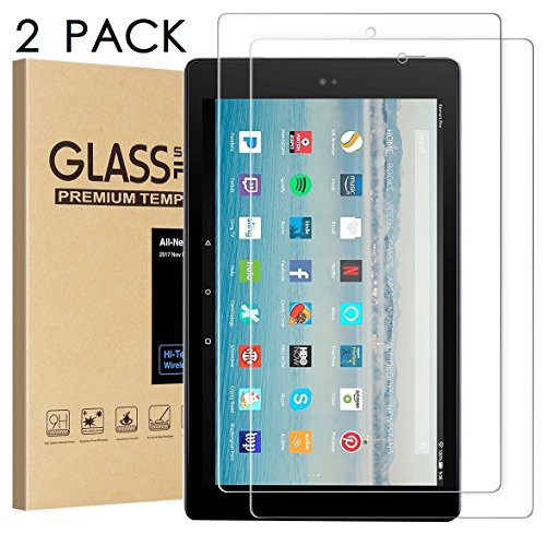 All-New Amazon Kindle Fire HD 10 Screen Protector,Tempered Glass Screen Protector Film for All-New Kindle Fire HD 10 Tablet (7th 2017 Release)