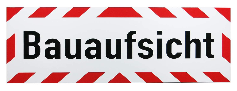 lieferbar in DREI Gr/ö/ßen Lohofol Magnetschild Bauaufsicht Schild magnetisch 35 x 11 cm