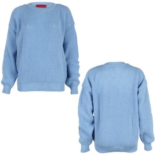 Jersey grueso para mujer (9L) azul celeste