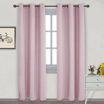 nicetown nursery essential thermal insulated solid grommet top blackout curtains drapes 1 pair