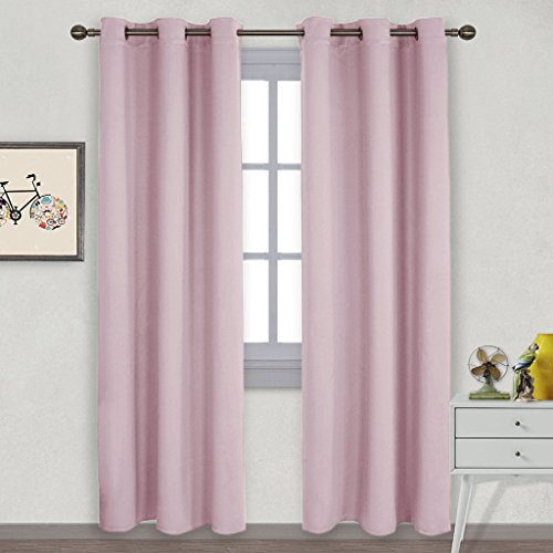 Pink And Green Curtains - 2