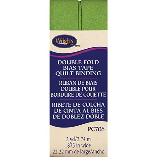 (Wrights Double Fold Quilt Binding, 7/8 by 3-Yard, Leaf Green)