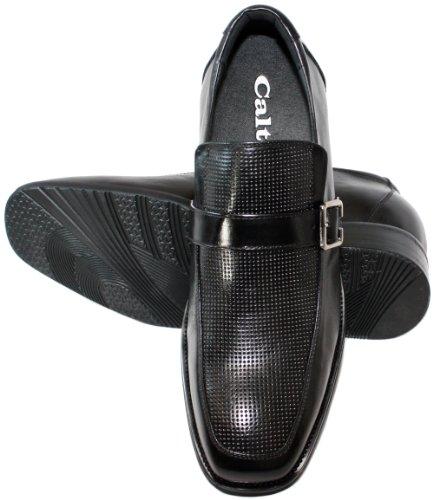 calto-g58291-8,1cm Grande Taille-Hauteur Augmenter Chaussures ascenseur (Noir) à enfiler