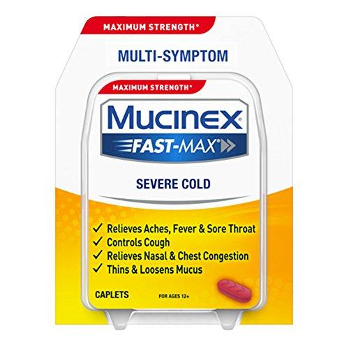 Mucinex Fast-Max Severe Cold Caplets, -