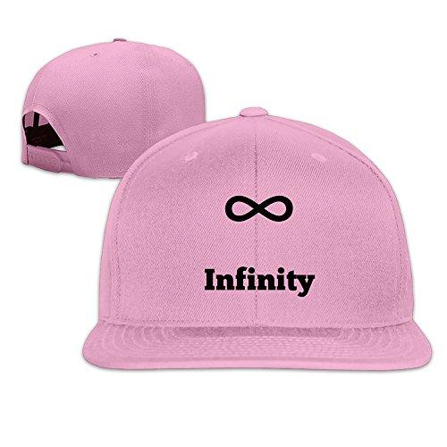 BASEE Math Love Infinity Symbol Adjustable Flat Along Baseball Cap Pink Unisex One Size ()