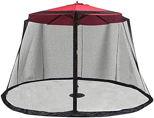 ALWOA Outdoor Garden Umbrella Parasol Table Polyester Mosquito Net Cover Screen Netting Cover, Mesh Mosquito Net Enclosure – Patio Umbrella, Suitable for gazebos