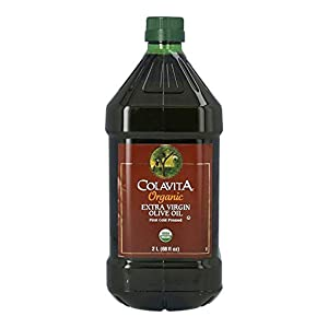 Colavita Organic Extra Virgin Olive Oil, First Cold Pressed, Imported from Italy, 2 Liters