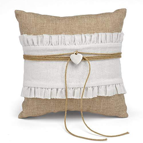 (23pk Rustic Romance Ring Pillow-Ring Bearer Pillows)