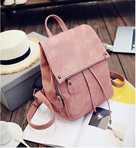 Sulmoe - Bolso mochila  para mujer rosa rosa rosa