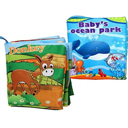 [Cloth Baby Books My First Soft Book, Early Learning Activity & Development Non-Toxic Fabric Book For Babies - Farm Animal, Ocean & Sea] (Animals That Start With The Letter E)