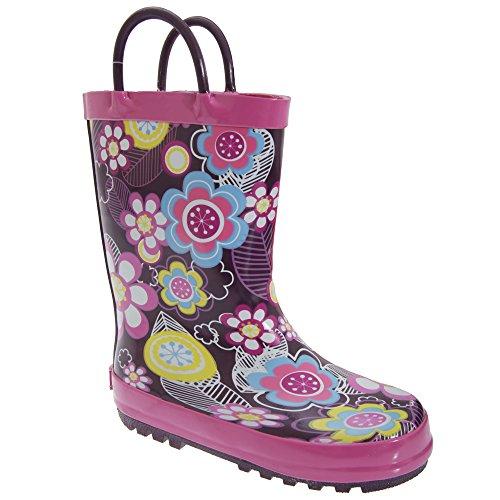 Cotswold Kinder Mädchen Gummistiefel Blume