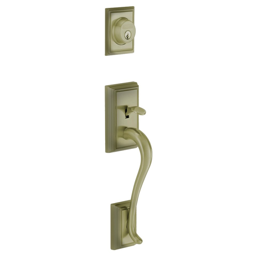 New Schlage F58 Add 609 Addison Exterior Handleset With