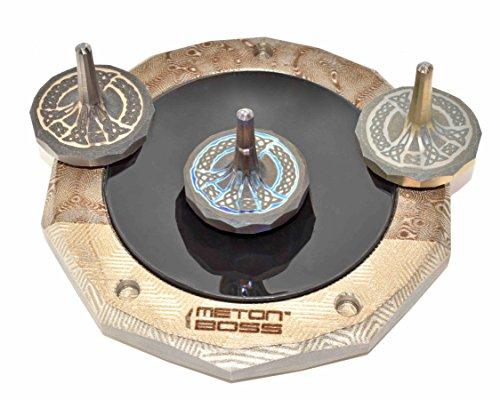 MetonBoss Peace Titanium Spinning Top - Aerospace Grade 5 Titanium (Anodized Golden Magenta) by MetonBoss (Image #4)
