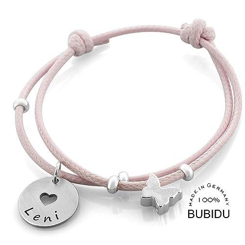 Taufarmband Mädchen Mit Gravur Rosa Armband 925 Silber