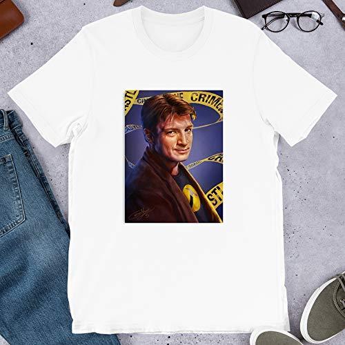 Castle Serenity Halloween (Nathan Fillion Firefly Castle Dr Horrible Serenity Mal Reynolds Captain Mal Graphic Gift for Men Women Girls Unisex T-Shirt)