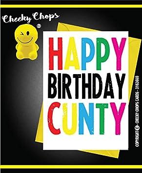 Carte De Vœux Comedie Cheeky Chops Funny Humour Joyeux Anniversaire