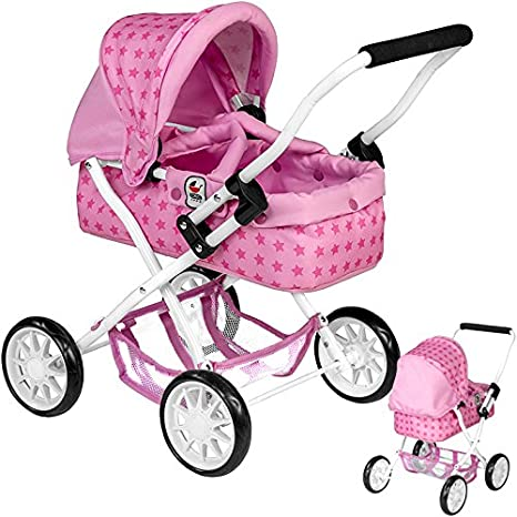 Mi primer muñeca carro Smarty estrellas (Rosa de color rosa)
