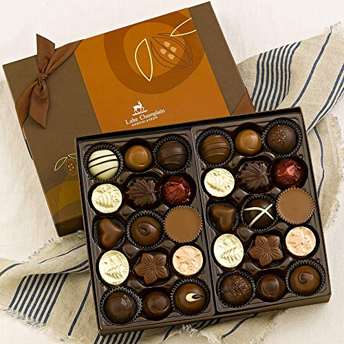Lake Champlain Gourmet Chocolate Assortment Gift Box, 30 Pieces, 1.1 Pounds made in Vermont