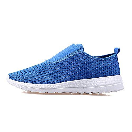 Yuanli Dames Slip Op Comfortabele Wandelschoenen Met Sneakers Blauw