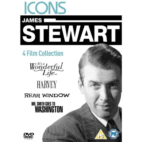 James Stewart - It's A Wonderful Life/Harvey/Rear Window/Mr. Smith Goes To Washington [Region 2 DVD]