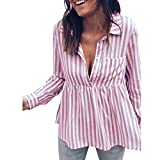 Best Lisli Womens Blouses - Lisli Women's Casual Long Sleeve Button Down Striped Review
