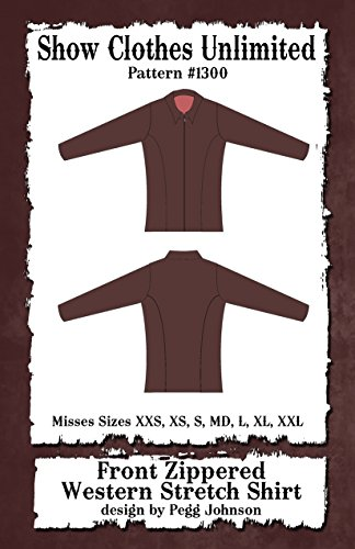 (1300 - Misses Western Princess Seamed Front Zip Stretch Shirt Pattern)