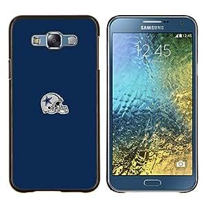 Estrella Casco- Metal de aluminio y de plástico duro Caja del teléfono - Negro - Samsung Galaxy E7 / SM-E700