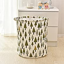 Foldable Laundry Basket, Waterproof Folding Large Storage Bag Bucket Organizer Pop-up Laundry Hampers with Handles for Dirty Clothes Baby's Toys (Forest tree)