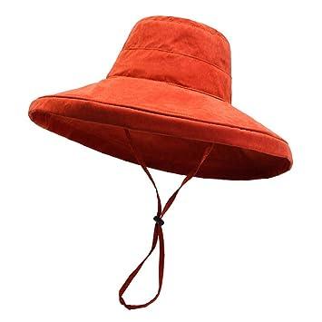 HUOLIMAO Protector Solar Sombreros De Cubo De ala Ancha para ...