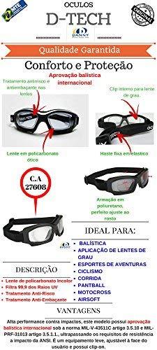 Armação Óculos Segurança DANNY D-TECH Clip Lentes De Grau Airsoft   Amazon.com.br  Ferramentas e Construção ab1583a649