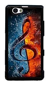 Hard Case for Sony D5503,Xperia Z1 Compact, M51w,Xperia Z1 mini(Treble Clef Music)