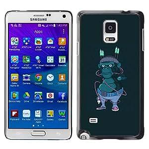 EJOY---Cubierta de la caja de protección la piel dura para el ** Samsung Galaxy Note 4 ** --Hipster Calle Gorila