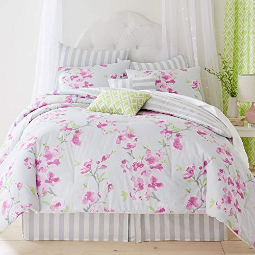 BrylaneHome Jasmine 8-Pc. Comforter Set - Floral Multi, Queen