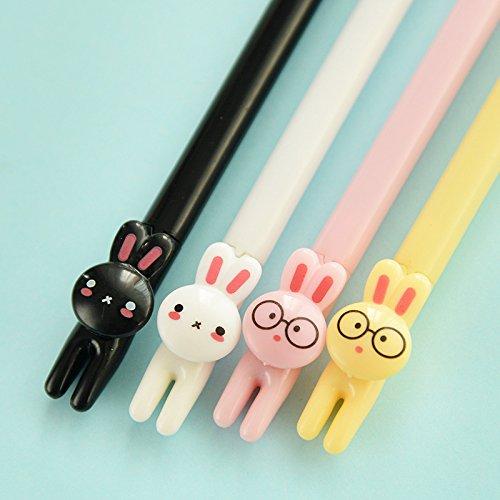 Katoot@ 10 pcs/lot Cute Rabbit Gel Pens For Writing 0.5 MM Black Ink Pen set Kids gift Kawaii Stationery Office School Supplies escolar