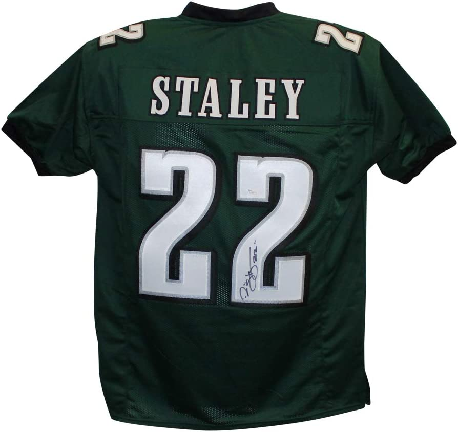 Amazon.com: Duce Staley Autographed/Signed Pro Style Green XL ...