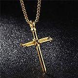Cross Necklace for Men Boys Cross Pendant STRENGTH