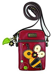 Chala Crossbody Cell Phone Purse Women Pu Leather Multicolor Handbag With Adjustable Strap Bee